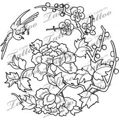 Looking for the perfect tattoo design? Here at Create My Tattoo, we specialize in giving you the very best tattoo ideas and designs for men and women. We host over unique designs made by our artists over the last 8 y I Tattoo, Cool Tattoos, Chinese Blossom, Create My Tattoo, Custom Tattoo, Tattoo Designs, Ornament, Japan, Artist