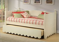 Great way to have full size daybed with canopy- maybe in all cream ...