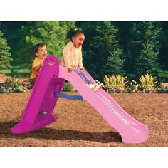 Buy Little Tikes Easy Store Large Slide - Pink from our Slides range - Tesco Little Tikes Slide, Kids Slide, Pink Slides, Outdoor Toys, Garden Toys, Toys Shop, Princess Birthday, Just For Fun, Early Learning