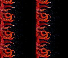 Tentacle Border 6 fabric by jadegordon on Spoonflower - custom fabric