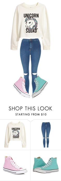 """"""""""" by sydthekyd01 on Polyvore featuring H&M, Topshop and Converse"""