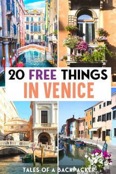 20 Free things to do in Venice. Although Venice is expensive you can still visit Venice on a budget. Here are 20 free things to do in Venice to make the most of Venice for free! Italy Travel Tips, Europe Travel Guide, Budget Travel, Venice Travel Guide, Europe On A Budget, Backpacking Europe, Packing Tips For Travel, Travel Hacks, Travel Essentials