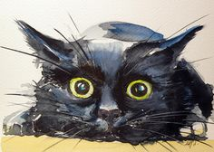 Hunter Cat Painting by Kovacs Anna Brigitta