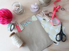 Little Hannah: DIY: Packaging en neón y kraft