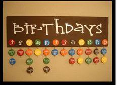 Birthday Calendar for a classroom