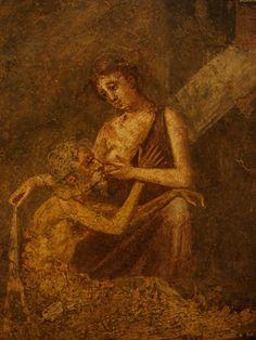 Cimon and Pero fresco from Pompei (Italy)