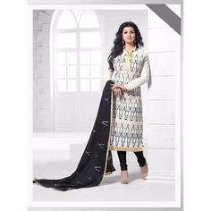 New Arrival Designer White And Black Salawar Suit Sv-9409 Saiveera Fashion is a #Manufacturer Wholesaler,Trader, Popular Dealar and Retailar Of wide Range Salwar Suit, Dress Material, Saree, Lehnga Choli, Bollywood   Collection Replica, and Also Multiple Purpose of Variety Such as Like #Churidar, Patiala, Anarkali, Cotton, Georgette, Net, Cotton, Pure Cotton Dress   Material. For Any Other Query Call/Whatsapp - +91-8469103344.