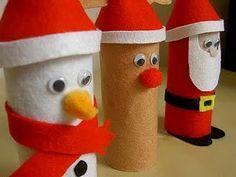 Manualidades navidad con tubos de papel higiénico | Jugar y colorear