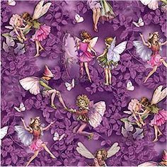 Magical Evening, Flower Fairies, Michael Miller, NOW IN STOCK, Cicely Mary Barker Flower Fairies, Ladybutton Fabrics