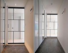한샘리하우스 : 토탈 홈인테리어 리모델링의 모든 것 Lobby Interior, Cabinet Design, Living Design, Shoe Cabinet Design, Interior, Remodel, Door Design, House Interior, Doors Interior