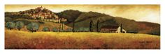 Olive Season in Tuscany Print by Santo De Vita at Art.com