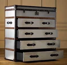 I would love two of these for my bedroom. Steamer Trunk Dresser
