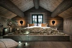 When decorating your rustic bedroom there are a lot of questions to answer. One of the most important is- how rustic do you want it to look. Rustic style in … Attic Design, Interior Design, Design Interiors, Design Room, Bed Design, Home Bedroom, Bedroom Decor, Bedroom Ideas, Bedroom Furniture