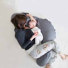 Lagerungskissen - Stillkissen 160cm - Baby Blue - ein Designerstück von muzponyde bei DaWanda