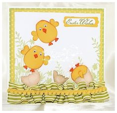 easter chicks using the owl punch - so cute!