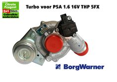 Citroen 1.6 16V THP 5FX Turbo Borgwarner EP6DT in voorraad - in stock - Turbolader auf Lager  Vraag ons: https://bartebben.nl/aanvraag-onderdelen-citroen-peugeot.html Ask us: http://bartebben.com/part-request.html Fragen Sie uns: https://bartebben.de/ersatzteil-anfrage.html