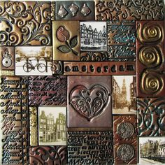 Amsterdam I - polymer clay mosaic by Kitty van den Heuvel