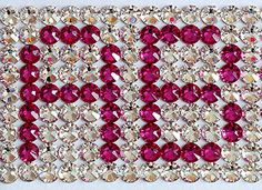 How To Write A Name or Text Using Swarovski Crystals | Crystal and Glass Beads