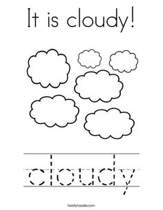 Cloud + Rain + Lightning Coloring Sheet #Weather #
