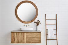 Beachwood Timber Vanity (By Loughlin Furniture). Bathroom Vanities For Sale, Bathroom Vanities Without Tops, Chic Bathrooms, Cozy Bathroom, Bathroom Ideas, Bathroom Bin, Bathroom Laundry, Light Bathroom, Bathroom Towels