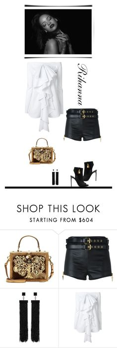 """""""Rihanna"""" by terry-tlc ❤ liked on Polyvore featuring Dolce&Gabbana, Giuseppe Zanotti, Tom Ford and E L L E R Y"""