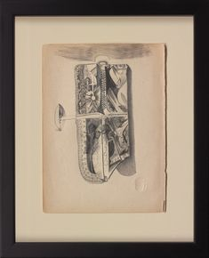 Chasuble #015 2016   33 x 27 cm. (frame size)  Pencil on paper