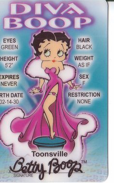 Betty Boop the Diva Toon Town Celebrity by ASaluteToHollywood, $6.99