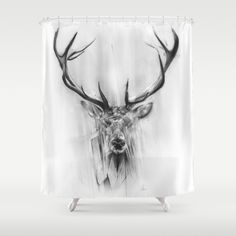 Red Deer Shower Curtain to be made into large art installation piece