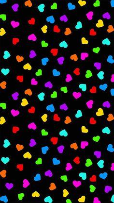 Rainbow Wallpaper, Heart Wallpaper, Love Wallpaper, Cellphone Wallpaper, Colorful Wallpaper, Screen Wallpaper, Mobile Wallpaper, Iphone Wallpaper, Cute Wallpaper Backgrounds