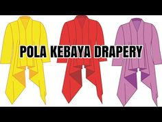 POLA KEBAYA DRAPERY - YouTube