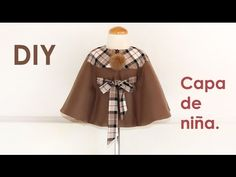 How to do Layer with belt. Sewing P. Diy Cape, Baby Sewing Tutorials, Sewing Patterns, Craft Tutorials, Little Girl Dresses, Little Girls, Girls Dresses, Short Niña, Sewing Baby Clothes