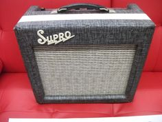 Supro 1616t 1960's Silver gray vintage tube amp with tremolo