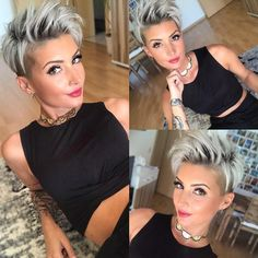 20-best-short-haircuts-for-women-of-all-time_14 Women Pixie Haircut, Pixie Haircut Styles, Haircut Short, Short Shag Hairstyles, Short Haircuts Curly Hair, Short Haircuts For Women, Short Asymmetrical Hairstyles, Chic Haircut, Short Hair Cuts