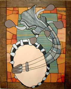 This Wall Hanging Banjo is a Contemporary by Galleryatkingston