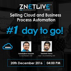 Only 1 #day to go! Remember to join us for tomorrow's webinar for a #live #demo of RackNap- a cloud service delivery and #business #automation platform.