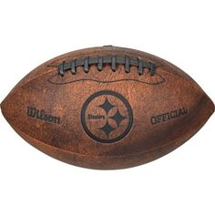 e994ebaacc01a Wilson NFL Pittsburgh Steelers Throwback 9 inch Composite Leather Football