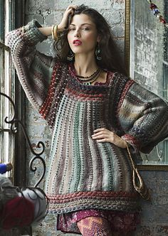 Ravelry: Folkloric Tunic pattern by Cornelia Tuttle Hamilton vogue knitting fall 2012 aran Knitting Patterns, Crochet Patterns, Vogue Knitting, Knitting Yarn, Tunic Pattern, Free Pattern, Crochet Fashion, Beautiful Crochet, Crochet Clothes