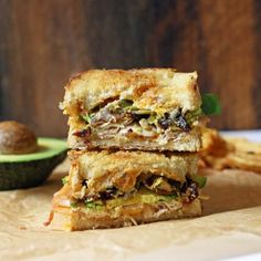 Grilled cheese sandwich filled with cheddar cheese, turkey, avocado, bacon and jalapeños is to absolutely die for!