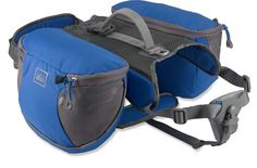 REI Classic Dog Pack -I really want to take my dog backpacking with me she's usually a good companion and I don't mind carrying her food and water for a day but she needs to learn how to carry her own weight for the more lengthy trips. Camping And Hiking, Camping With Kids, Backpacking, Camping Ideas, Camping Stuff, Family Camping, Dog Backpack, Hiking Backpack, Mans Best Friend
