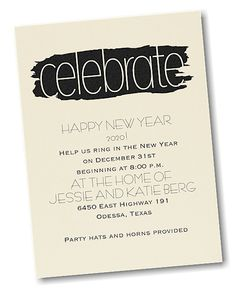 Artsy Celebrate Party Invitation