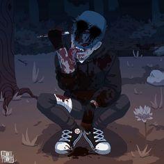 Comin' to steal your kidneys Scary Creepypasta, Creepypasta Proxy, Creepypasta Wallpaper, Creepy Pasta Family, Eyeless Jack, Black Anime Characters, Jeff The Killer, Creepy Art, Horror Stories