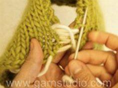 Nathalie / DROPS 146-1 - Ilmaiset neuleohje DROPS Designilta Baby Knitting Patterns, Baby Sweater Knitting Pattern, Knit Vest Pattern, Knitting Designs, Free Knitting, Drops Design, Knit Slippers Free Pattern, Knitted Slippers, Magazine Drops