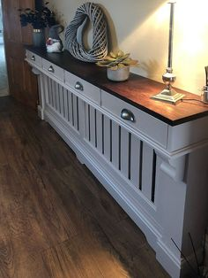 hallway decorating 150659550020396350 - radiator cover with drawers above Source by spkjoinery Home Radiators, Bathroom Radiators, Radiator Shelf, Radiator Ideas, Modern Radiator Cover, Hallway Ideas Entrance Narrow, Modern Hallway, Table Decor Living Room, Hallway Designs
