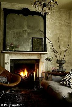 Dramatic living room.