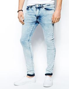 ASOS | ASOS Extreme Super Skinny Jeans In Heavy Wash at ASOS