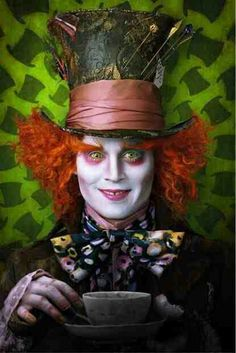 Here's the trailer for the new Alice in Wonderland film by directed by Tim Burton, staring Mia Wasikowska as Alice and Johnny Depp as The Mad Hatter, Johnny Depp Mad Hatter, Alice In Wonderland Birthday, Wonderland Party, Wonderland Costumes, Alice In Wonderland Hatter, Film Tim Burton, Go Ask Alice, Chesire Cat, Johny Depp