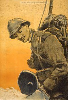 Immagine di un soldato del Regio Esercito Italiano, Prima guerra mondiale.