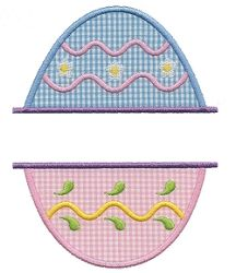 Split Egg Applique - 3 Sizes! | Easter | Machine Embroidery Designs | SWAKembroidery.com Applique for Kids