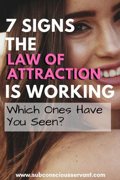 If you're trying to manifest abundance into your life with the law of attraction but not sure if it's working. Then check out these 7 signs the law of attraction is working for you. Which ones have you seen? Manifestation Law Of Attraction, Law Of Attraction Affirmations, Manifestation Journal, Money Affirmations, Positive Affirmations, Bad Feeling, How Are You Feeling, Law Of Attraction Love, Manifesting Money