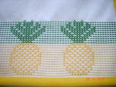 ARTESANATOS TRANSITÓRIA: jogo americano - oitinho abacaxi